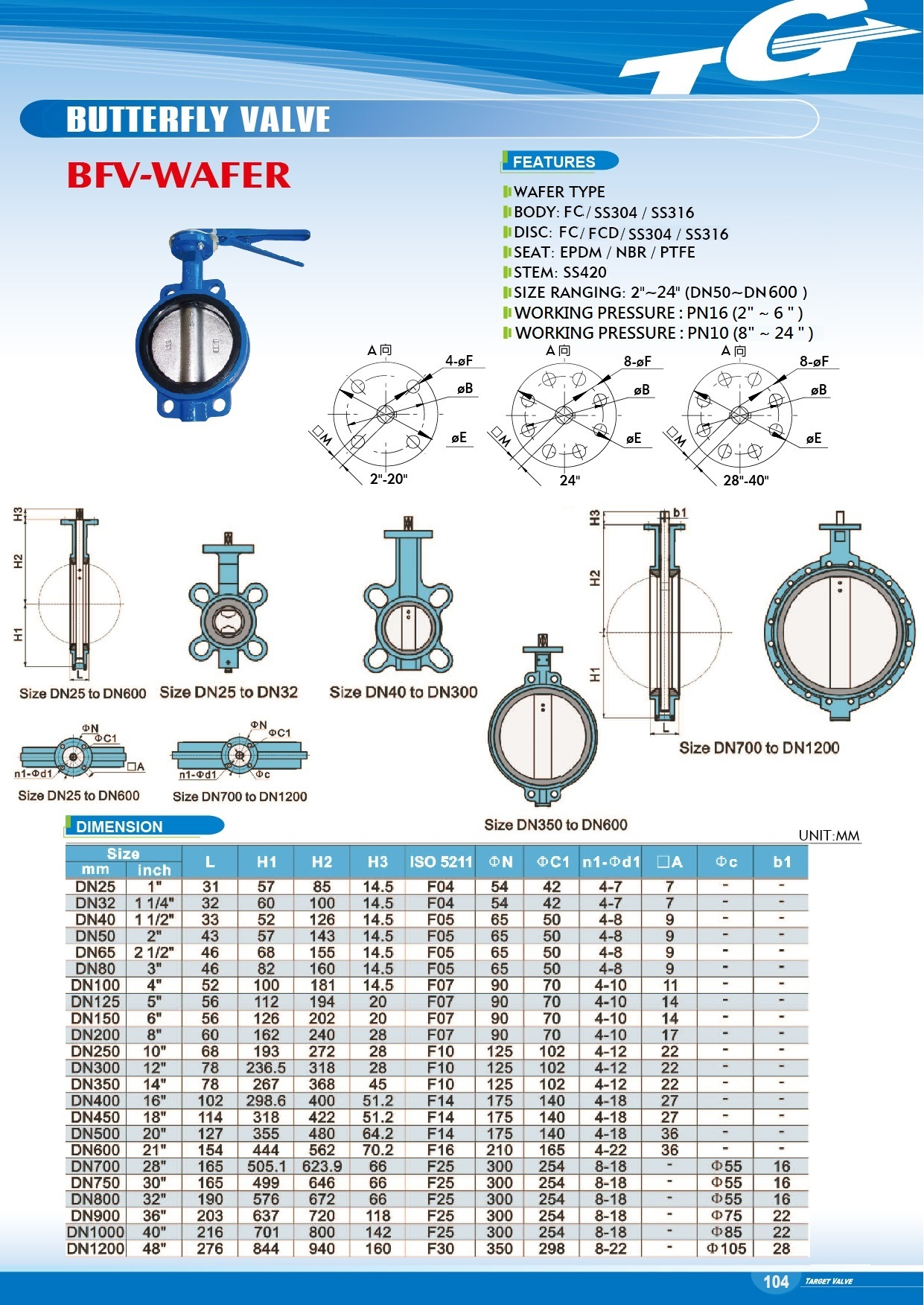 Butterfly Valve - BFV-111 WAFER TYPE